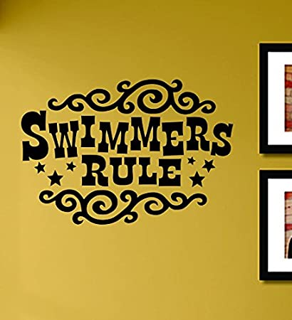 Amazon Com Swimmers Rule Vinyl Wall Decals Quotes Sayings
