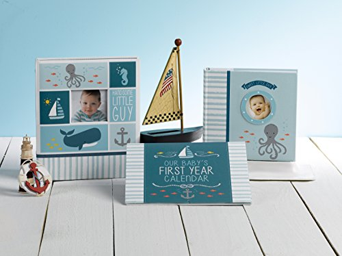 """Carter's Blue Nautical My First Years Bound Memory Book For Baby Boys, 9"""" W X 11.125"""" H, 60 Pages"""