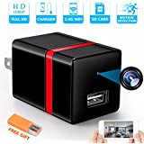 Spy Camera Wireless Hidden Camera WiFi - USB Wall Charger Camera - Nanny Camera - Tiny Mini Home Security Monitoring Cam with Cell Phone iPhone App - 1080P HD - Motion Detection - Smart Snap Cam