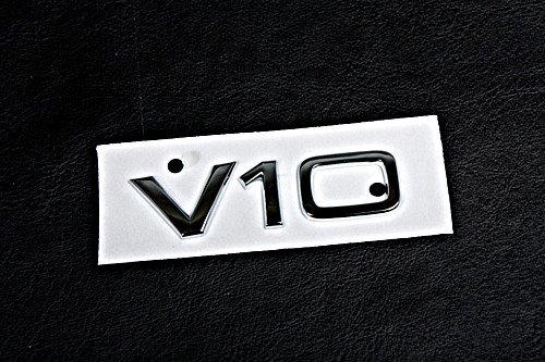 [Genuine Chrome Badge Emblem V10 AUDI A6 S6 C6 A8 D3 RS6 R8 2004-] (Audi S6 V10)