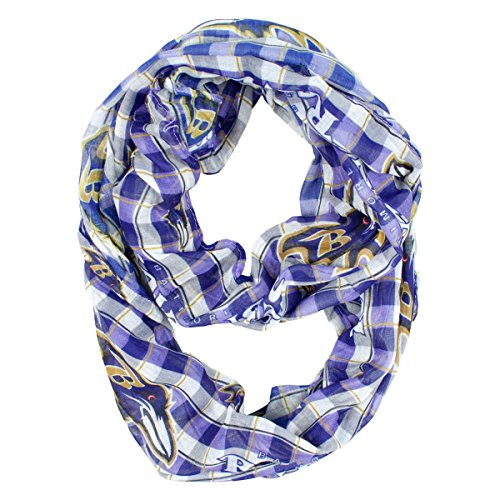 NFL Sheer Infinity Scarf Plaid