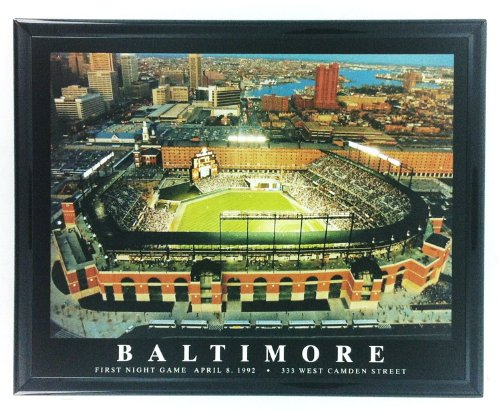 Framed Baltimore Orioles Camden Yards Print Wall Art - Camden Orioles Baltimore Yards