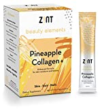 Sweet Collagen Powder Peptides Beauty Water (Pineapple): Hydrolyzed Marine Collagen + Acai, Hyaluronic Acid, Glucosamine, Vitamin C – Sugar-Free, Anti-Aging Protein Drink, 30 Packets