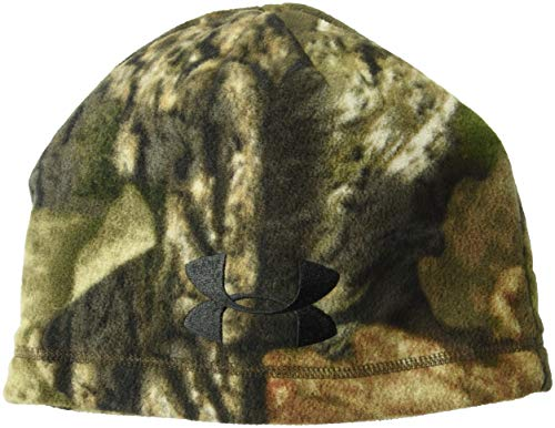 Under Armour Men's Outdoor Camo Fleece Beanie, Mossy Oak Break Up C/Black, One Size