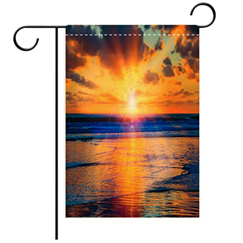 (BEISISS Double Print Garden Flag Outdoor Flag House FlagBannerSunset Coronado Beach surf San Diego CAdecorated for Outdoor Holiday Gardens)