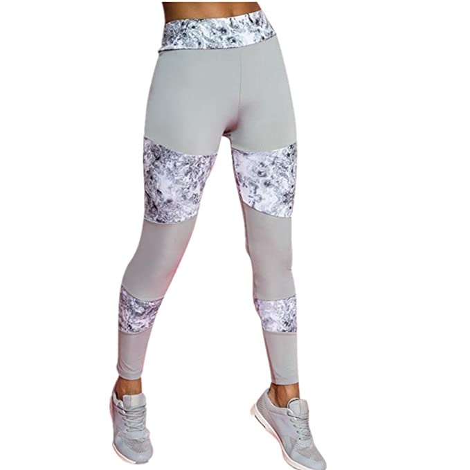 130dd2727c41 Coolster Damen Gym Workout Leggings Fitness Sport Laufen Spleißen  Elastische Yoga Hosen (Tag S,