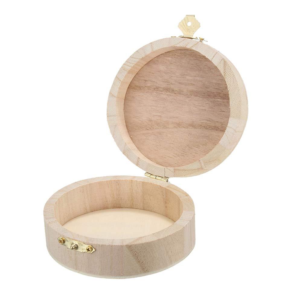 Halskette FEDBNET Holz-Schmuckk/ästchen f/ür Uhren Ring Armband Geschenk aus Holz