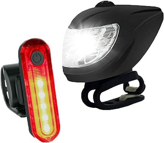 EDW Juego de Luces para Bicicleta con Sensor óptico Inteligente ...