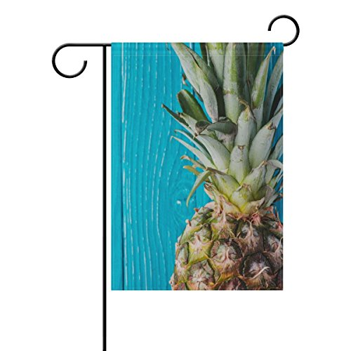 """Garden Flags Pineapple Blue Wooden 12"""" X 18"""" for Indoor & Ou"""