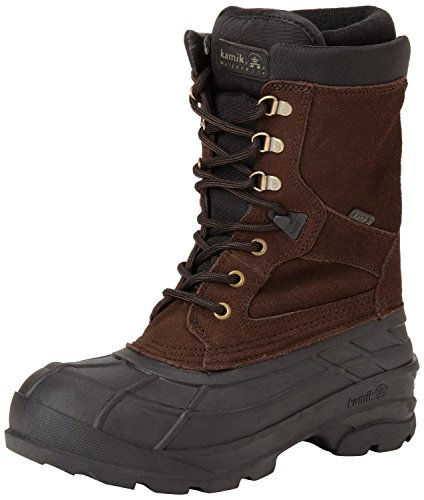 Kamik Men's Nationplus Boot (11.5 D(M) US, Dark Brown) (Men Boots Winter Working)