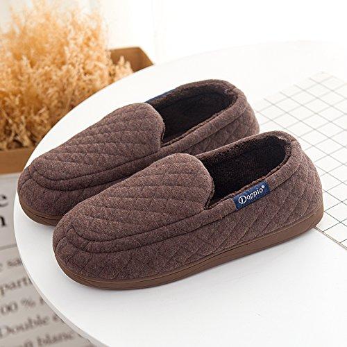 Padded Café mâle caoutchouc de chaussons Chaussures Parole Accueil d'Cotton Semelle nbsp;Mesdames LaxBa moelleux agréable en 6OvqPgw