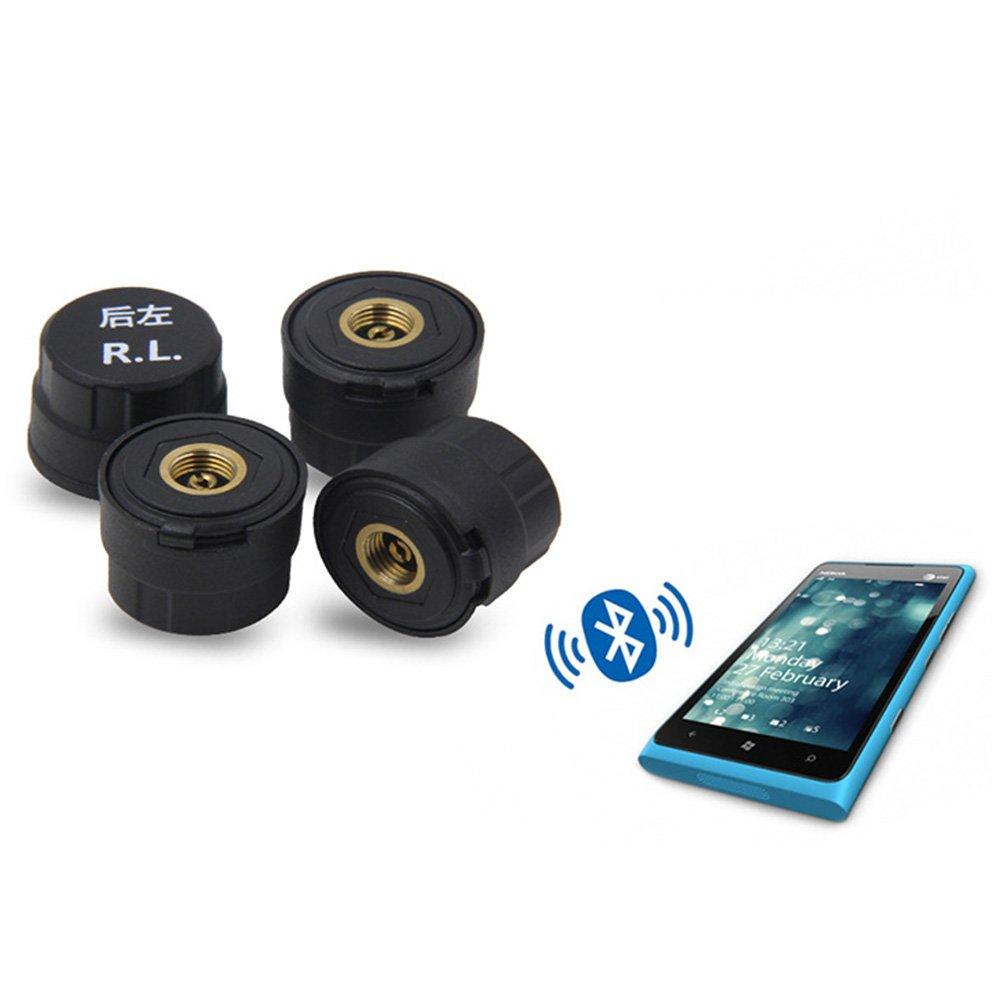 Qiyun kit auto, regali per auto, gadget auto, per auto, auto Bluetooth 4.0 Android iOS TPMS pneumatico pressione monitor sistema 4 sensori esterni auto Bluetooth 4.0Android iOS TPMS pneumatico pressione monitor sistema 4sensori esterni