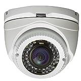 AVUE 1080P Full HD HD-TVI 2.8-12mm Lens Varifocal White Turret Camera, Indoor/Outdoor Camera, 120ft IR Distance, 12V DC, IP66 Weatherproof, Vandal proof, CMOS Image Sensor