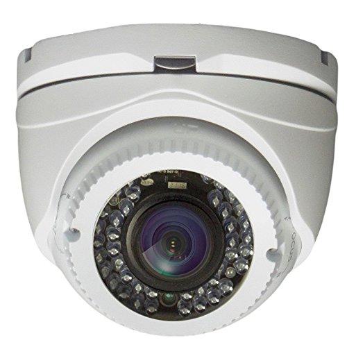 AVUE 1080P Full HD HD-TVI 2.8-12mm Lens Varifocal White Turret Camera, Indoor/Outdoor Camera, 120ft IR Distance, 12V DC, IP66 Weatherproof, Vandal proof, CMOS Image Sensor by AVUE