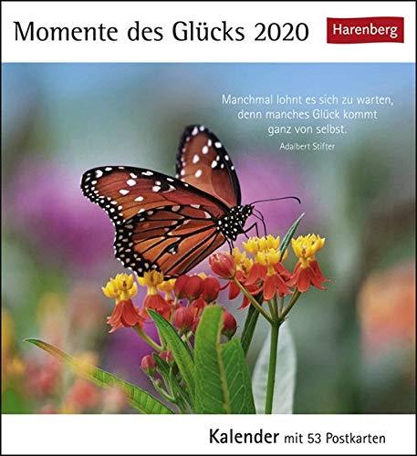Momente Des Glücks Postkartenkalender 2020. Wochenkalendarium. Blockkalender. Format 16 X 175 Cm