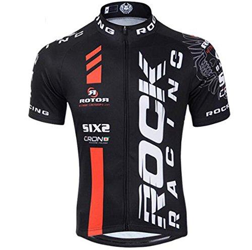 Cycling Jersey Men MTB Racing Rock Bike Wear Short Sleeve Bicycle Clothing