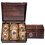 Texas A&M Wood Box Set with Decanter and glasses