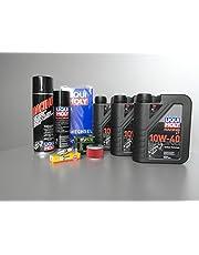 Onderhoudsset Quad DINLI 450 voor inspectie met oliefilter, olie en bougie