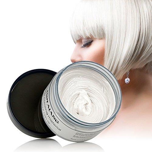 HailiCare White Hair Wax 4.23 oz, Professional Hair Pomades, Natural White Matte Hairstyle Max for Men Women