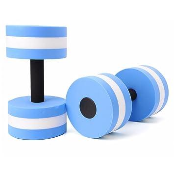 zerlar EVA espuma Aqua mancuernas pesas de agua para piscina ejercicios resistencia formación para el trabajo equipo unidades de par, Blue - 1 Pair, ...