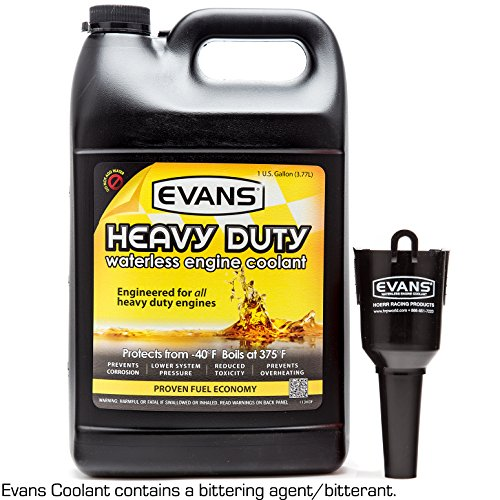 Evans Cooling Systems EC61001 Heavy Duty Waterless Engine Coolant with Funnel, 128 fl. oz.