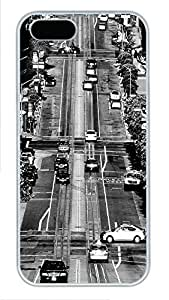 iPhone 5 5S Case California Streets PC Custom iPhone 5 5S Case Cover White
