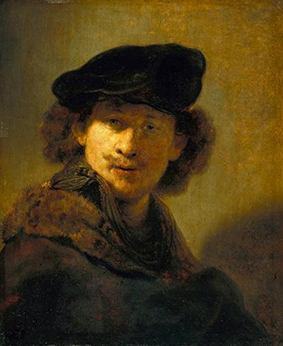 The High Quality Polyster Canvas Of Oil Painting 'Rembrandt Harmenszoon Van Rijn-Self-portrait In A Velvet Beret,1634' ,size: 8x10 Inch / 20x25 Cm ,this Best Price Art Decorative Canvas Prints Is Fit For Bedroom Decoration And Home Decor And Gifts - Trio Wall Lighting
