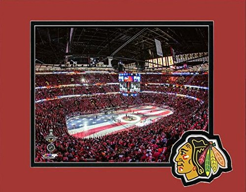 """Chicago Blackhawks 2015 Stanley Cup United Center Game 6 Photo (Size: 11"""" x 14"""") Matted"""