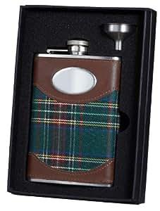 Visol VSET34-1330 Scottish Plaid Flask and Funnel Gift Set, 8-Ounce