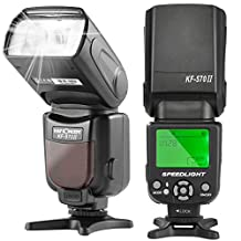 K&F Concept KF-570 II Speedlite Flash with LCD Display Universal Flash For Canon and Nikon DSLR Cameras