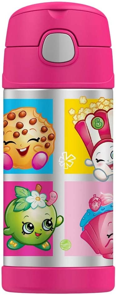 Shopkins Thermos Funtainer Stainless Steel Bottle - Pink 12oz
