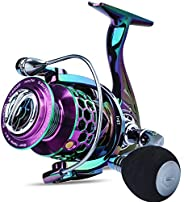 Sougayilang Colorful Fishing Reel 13 +1 BB Light Weight Ultra Smooth Powerful Spinning Reels, with CNC Line Ma