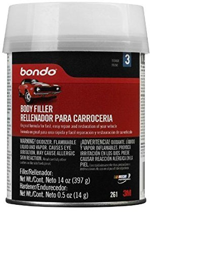 Bondo 261 Lightweight Filler Pint Can - 14 oz. (Pack of 12)