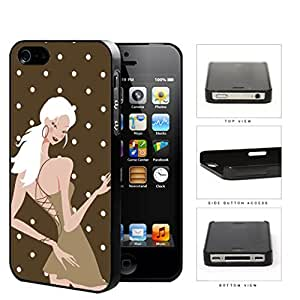 Brown Fashion Polka Dots Girl Hard Plastic Snap On Cell Phone Case Apple iPhone 4 4s