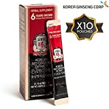 KGC Korean Panax Red Ginseng Extract Everytime - Immune System, Natural Energy Stamina, Antioxidants Healthy Memory Function, Blood Circulation, 10 Portable Pouches
