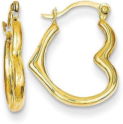 Simple Heart Earrings Gold Heart Hoops 14K Gold Filled Hoops Wire Wrapped Hoop Earrings Made to Order Dainty Heart Earrings