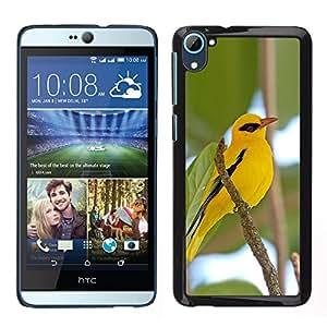 LECELL--Funda protectora / Cubierta / Piel For HTC Desire D826 -- rama pájaro amarillo verde cielo héroe ojo --
