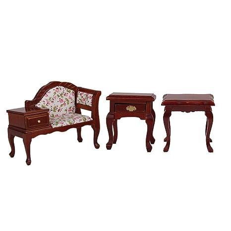 Brilliant Amazon Com Agordo 1 12 Miniature Wood Bench Chair Stool Short Links Chair Design For Home Short Linksinfo