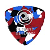 Planet Waves Multi-Color Celluloid Guitar Picks, 100 pack, Extra Heavy, Wide Shape