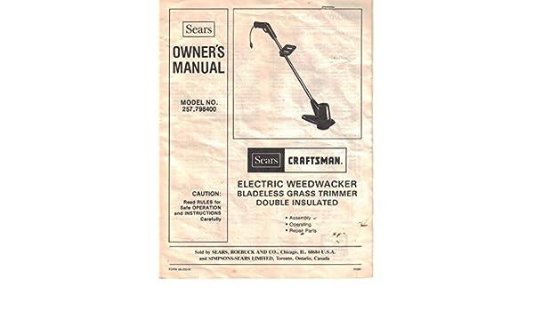 Craftsman weedwacker manual.