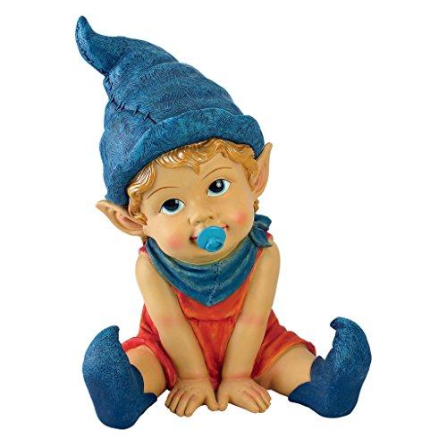 Design Toscano Garden Gnome Statue - Archibald The Baby Gnome - Lawn -