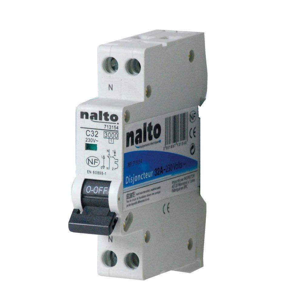 NALTO 713151 Disjoncteur 10 A Blanc UNIPRO SARL