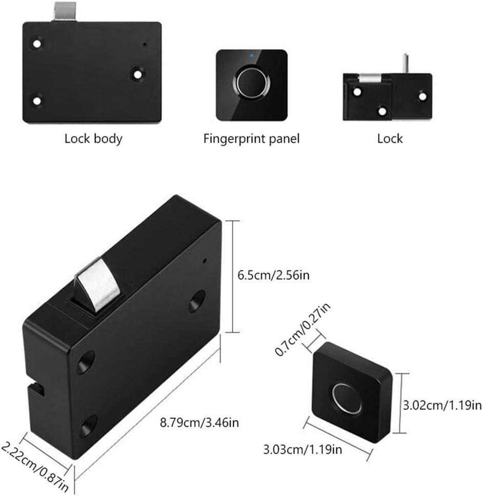 USB Rechargable Keyless Electric Anti Theft File Cabinet Lock for Home /& Office Dumcuw Fingerprint Lock for Drawer Smart Cabinet Wardrobe Locks