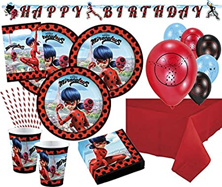 Kids Party World Miraculous Ladybug y Cat Noir - Set de ...