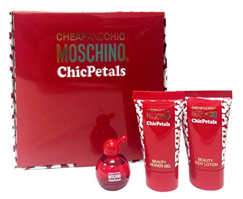 Cheap & Chic Moschino Chic Petals: (Eau De Toilette, Body Lotion,shower Gel) 3pc Mini Set