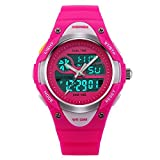 Image of Girls Watch Kids Watch Analog Digital Dual-time Display Water Resistant Sports Wrist Watches Rose