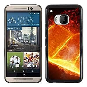 Paccase / SLIM PC / Aliminium Casa Carcasa Funda Case Cover para - Book Fire Goth Death Heavy Metal Bible - HTC One M9