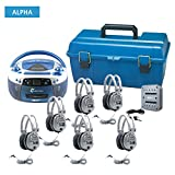 AudioStar ALPHA - 6 Station Listening Center with USB, CD, Cassette, Radio Player and CD/Tape-to-MP3 converter Boombox