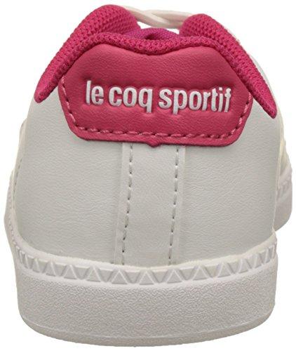 Le Coq Sportif Courtone Inf S - Botas Unisex Niños Blanco (Optical White/Rose R)