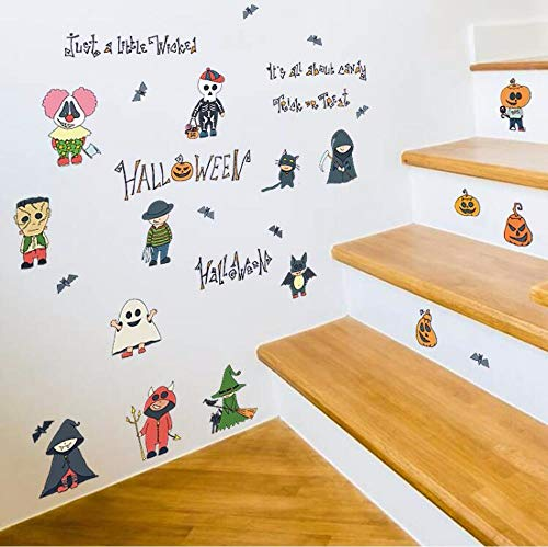 DZXGY 3D DIY PVC Wall Stickers Halloween Home Decoration Wall Decals Vintage Post Removable Sticker Furniture Stickers Decoration 50X70Cm]()